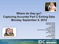 Where Do They Go? Capturing Accurate Part C Exiting Data