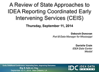 A Review of State Approaches to IDEA Reporting of Coordinated Early Intervening Services (CEIS)