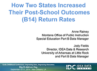How Two States Increased Their Post-School Outcomes (B14) Return Rates