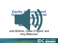 Equity, Inclusion, and Opportunity in Special Education Webinar