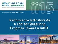 Performance Indicators As a Tool for Measuring Progress Toward a SiMR