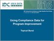 Using Compliance Data for Program Improvement