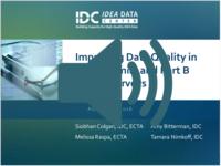 Improving Data Quality in Part C Family and Part B Parent Surveys Webinar